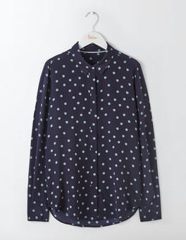 Blues Polka Dot The Silk Shirt