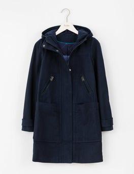 Navy Moleskin Duffle Coat