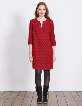 Black Forest Evergreen Easy Notch Neck Dress