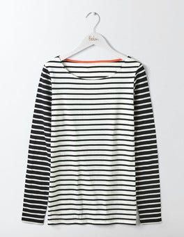 Ivory/Black Hotchpotch Long Sleeve Breton