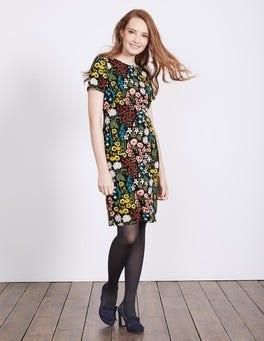 Black Multi Large Forest Carina Dress
