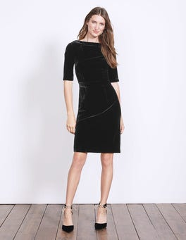 Black Velvet Martha Dress