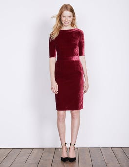 Wine Velvet Martha Dress