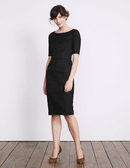 Black Fleur Fitted Dress