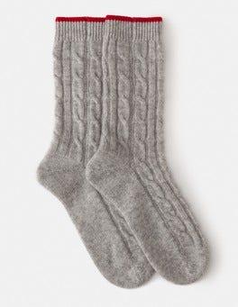 Grey Melange Cashmere Socks
