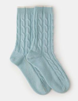 Washed Blue Cashmere Socks