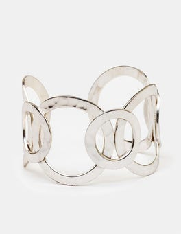 Antique Silver Metallic Madeline Cuff