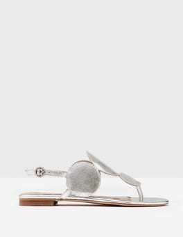Silver Metallic Aubury Sandals