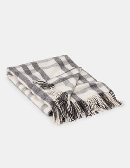 Grey Marl Check Cosy Highlands Blanket