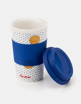 Klein Blue Spot on Spot Christmas Travel Cup