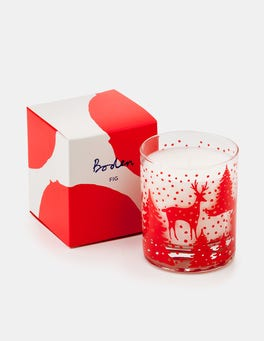 Post Box Red Reindeer Festive Candle
