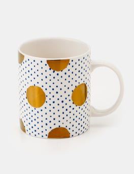 Gold Spot On Spot Christmas Mug