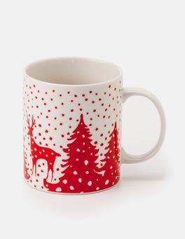 Post Box Red Reindeer Mug Festive Mug
