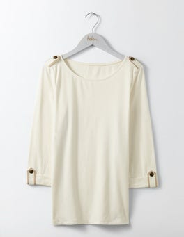Ivory Maritime Jersey Top