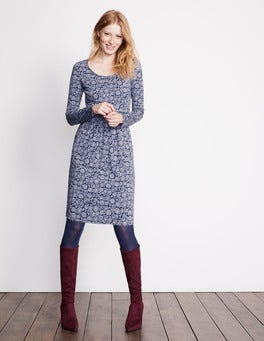 River Winter Floral Mabel Jersey Dress