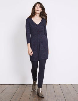 Navy and Wine Polka Dot Marion Jersey Tunic