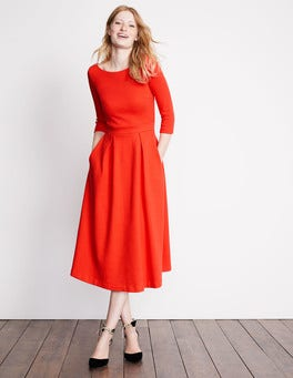 Red Pop Holly Textured Dress