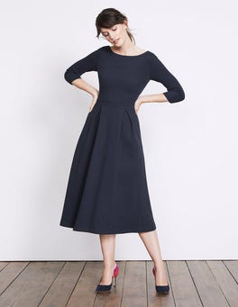 Navy Holly Textured Dress