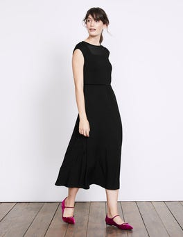 Black Delilah Jersey Dress
