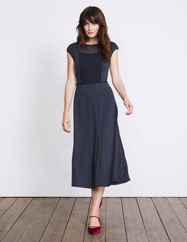 Navy Delilah Jersey Dress