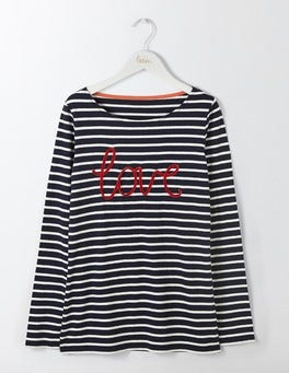 Navy/ Ivory Velvet Love The Christmas Breton