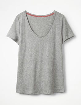 Grey Marl The Cotton Voop Tee