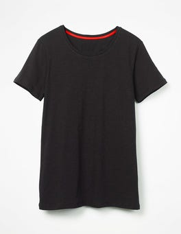 Black The Cotton Crew Neck Tee