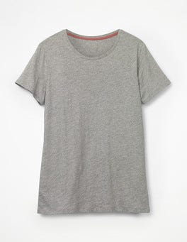 Grey Marl The Cotton Crew Neck Tee