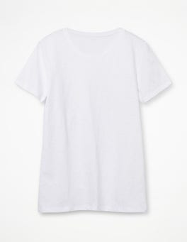 White The Cotton Crew Neck Tee