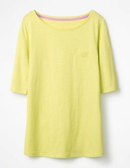 Citrus The Cotton Boat Neck Tee