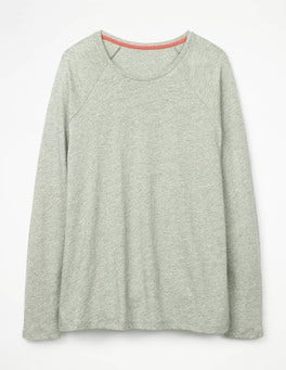 Grey Marl The Cotton Baseball Tee