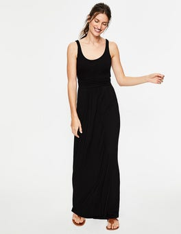 Black Diana Jersey Maxi Dress