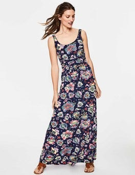 Multi Holiday Floral Diana Jersey Maxi Dress