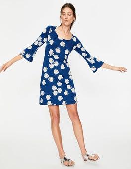 Klein Blue Woodblock Floral Miriam Jersey Tunic