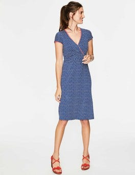 Klein Blue Wave Casual Jersey Dress