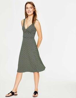Navy Apple Geo Willa Jersey Dress