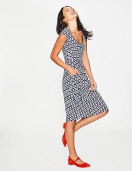 Navy Seabird Margot Jersey Dress