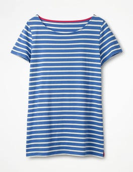 Soft Blue/Ivory Short Sleeve Breton