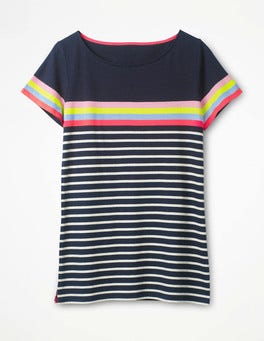 Navy Multi Short Sleeve Breton