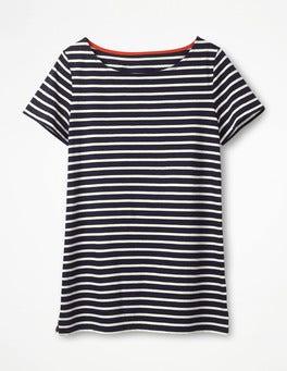 Navy/Ivory Short Sleeve Breton