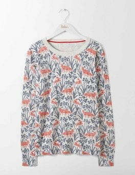 Post Box Red Field Fox Rafaela Printed Sweater