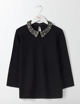 Black Kimberley Knitted Top