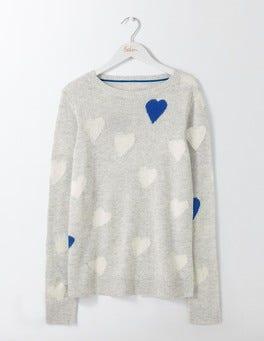 Silver Melange Jacquard Valentina Sweater