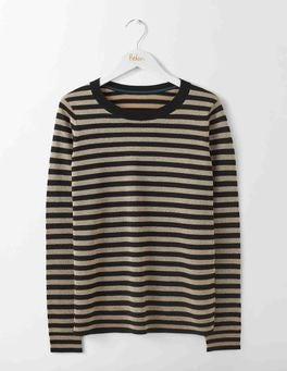Black/Gold Stripe Renata Sweater