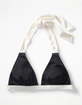 Black Positano Halter Bikini Top