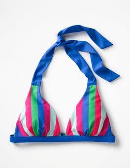 Multi Stripe Positano Halter Bikini Top