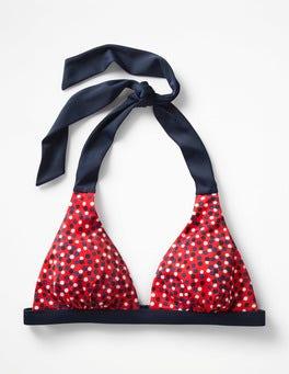 Indie Red Multi Spot Positano Halter Bikini Top