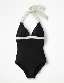 Black Positano Halter Swimsuit