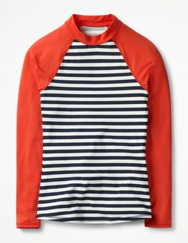 Navy/Ivory Stripe Rash Vest