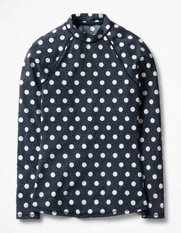 Navy/Ivory Spot Rash Guard